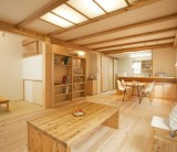フジモクの家施工事例・LDK編 ご家族とともに「経年美化」しているフジモクの家