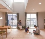 フジモクの家 施工事例~星空を望む、屋上と吹抜けのある住まい~