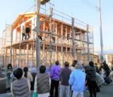 「上棟式で餅投げを開催しました」/  富士・富士宮・三島フジモクの家