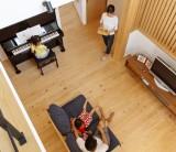 フジモクの家 施工事例 ~大きな軒と大きな吹き抜けでワクワク過ごす心地いい住まい~ ②